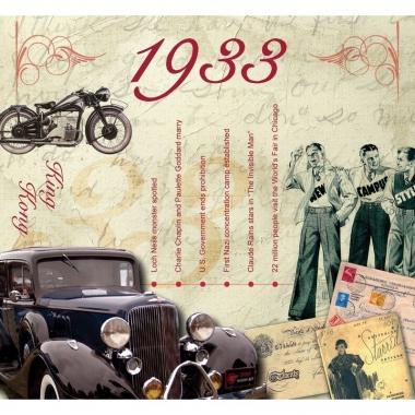 Verjaardagskaart met geboorte jaar 1933