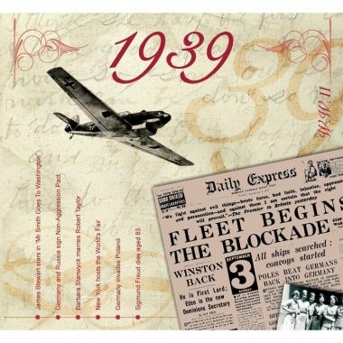 Verjaardagskaart met geboorte jaar 1939