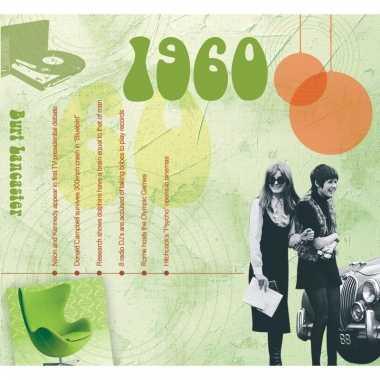 Verjaardagskaart met geboorte jaar 1960