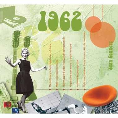 Verjaardagskaart met geboorte jaar 1962