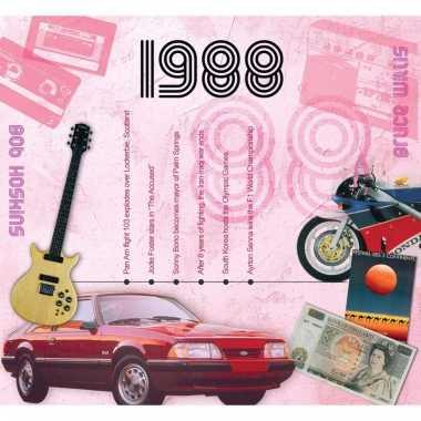 Verjaardagskaart met geboorte jaar 1988