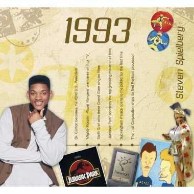 Verjaardagskaart met geboorte jaar 1993