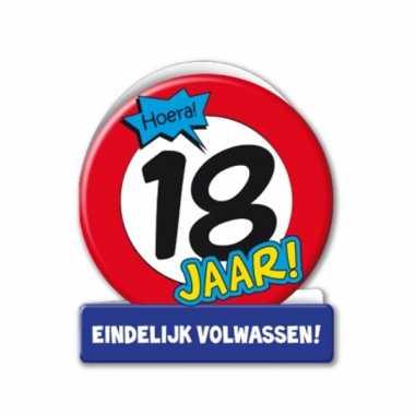 Verjaardagskaart stopbord 18 jaar