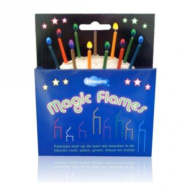 Verjaardagstaart kaarsjes gekleurd 12 stuks