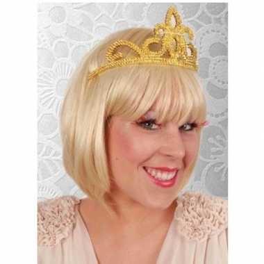 Verkleed accessoire prinses tiara goud