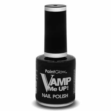 Verkleed accessoires zwarte matte heks/vampier nagellak 12 ml flesje