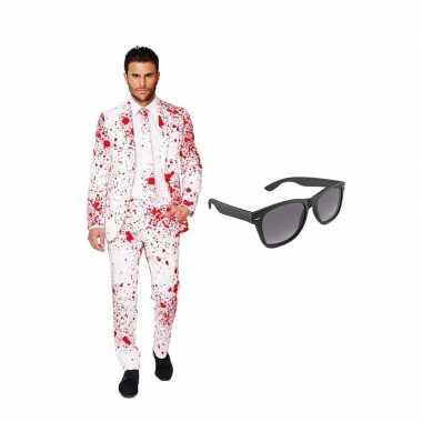 Verkleed bloedvlekken net heren kostuum maat 58 (xxxxl) met gratis zo