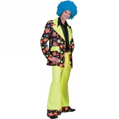 Verkleed disco pak met felgele broek
