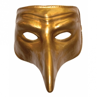 Verkleed goud comedy masker