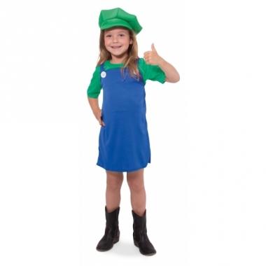 Verkleed groene loodgieter jurk voor meisjes