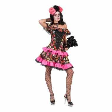 Verkleed jurk met schedels voor dames