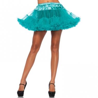 Verkleed korte petticoat groene voor dames