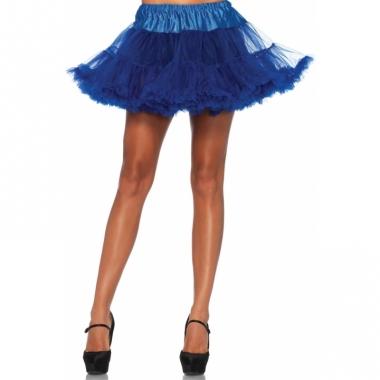 Verkleed korte petticoat kobalt voor dames