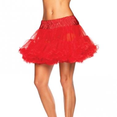 Verkleed korte petticoat rood voor dames