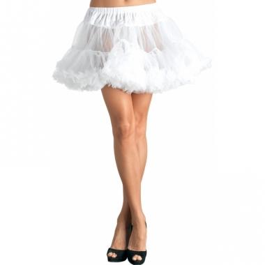 Verkleed korte petticoat wit voor dames
