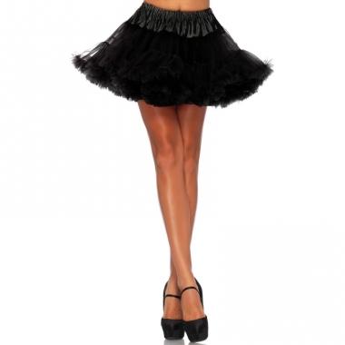 Verkleed korte petticoat zwart voor dames