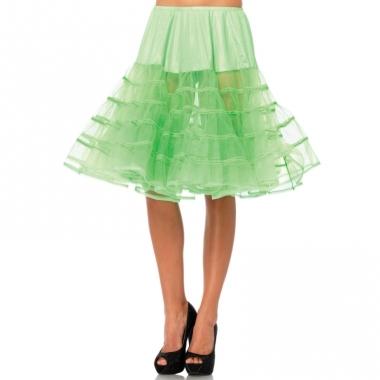 Verkleed lange petticoat neon groen voor dames