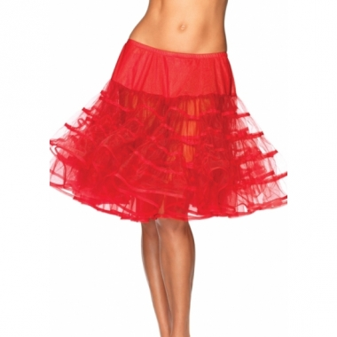 Verkleed lange petticoat rood voor dames