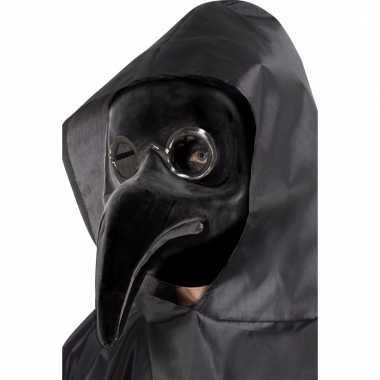 Verkleed masker pest dokter zwart voor volwassenen