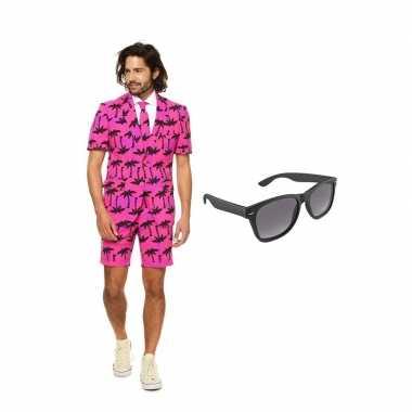 Verkleed palmbomen zomer net heren kostuum maat 50 (l) met gratis zon