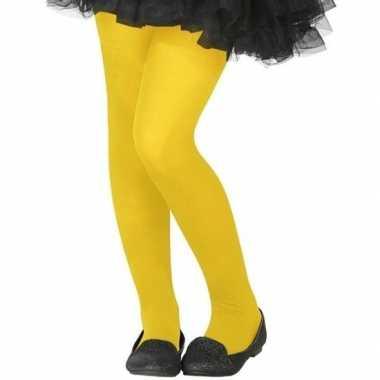 Verkleed panty fluor geel voor kinderen
