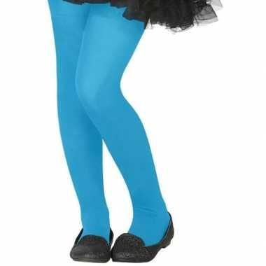 Verkleed panty neon blauw voor kinderen