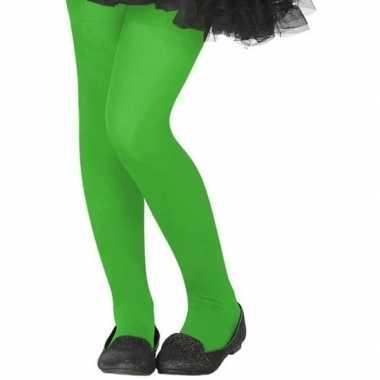 Verkleed panty neon groen voor kinderen