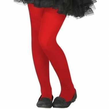 Verkleed panty rood voor kinderen