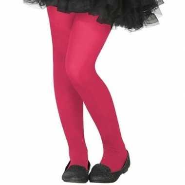 Verkleed panty roze voor kinderen