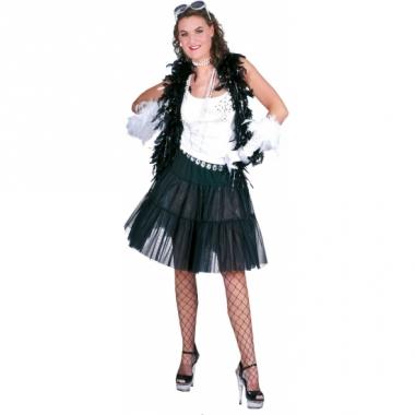Verkleed petticoat voor dames zwart