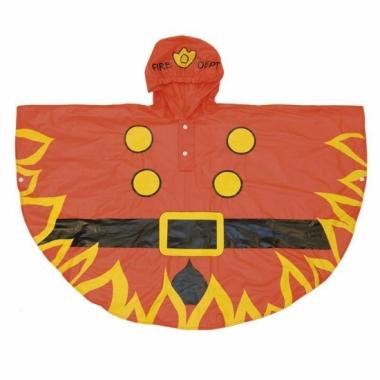 Verkleed poncho brandweer van polyester