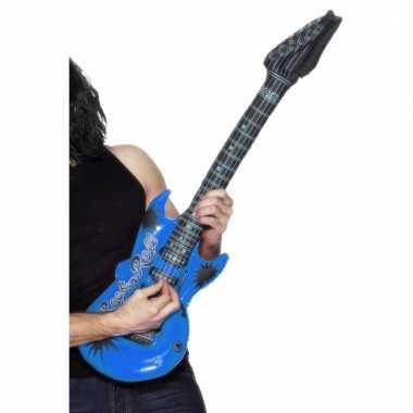 Verkleed rocker gitaar blauw 99 cm