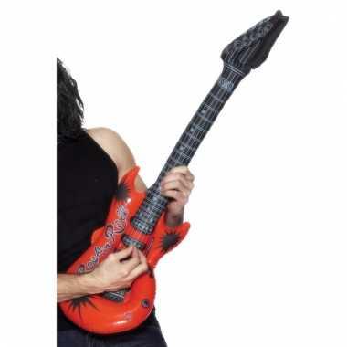Verkleed rocker gitaar rood 99 cm
