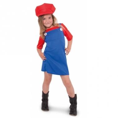 Verkleed rode loodgieter jurk voor meisjes