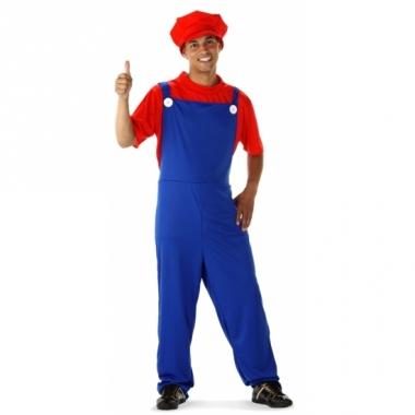 Verkleed rode loodgieter pak voor heren