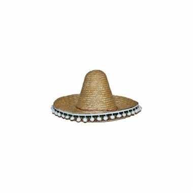Verkleed sombrero naturel 60 cm mexico voor volwassenen