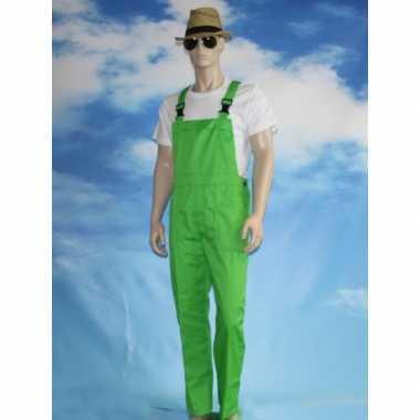 Verkleed tuinbroek groen voor volwassenen