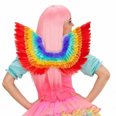 Verkleed vleugels in regenboog kleuren