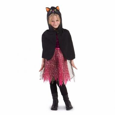 Verkleedcape halloween zwarte kat