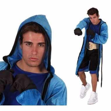 Verkleedkleding bokser kostuum voor heren 5-delig