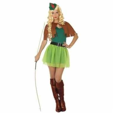 Verkleedkleding robin hood kostuum voor dames 4-delig