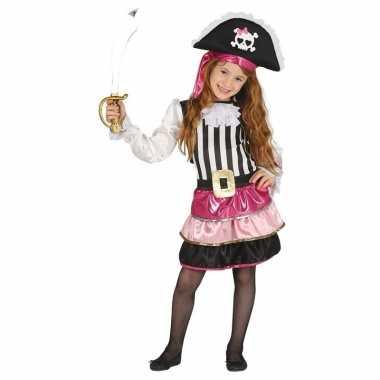 Verkleedkleding roze piraten jurkje