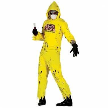 Verkleedkostuum radioactieve zombie voor heren