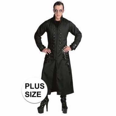 Verkleedkostuum zwarte horror jas voor volwassenen 10094993