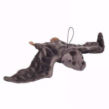 Vleermuis knuffel grijs 36 cm