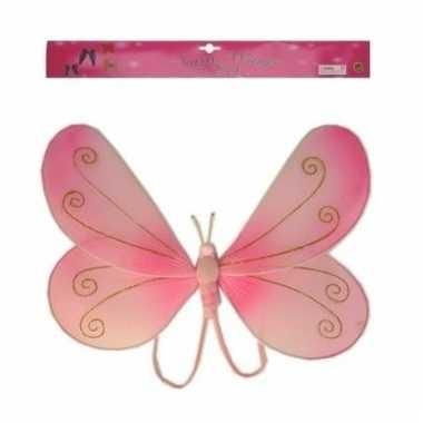 Vlinder accessoires vleugeltjes roze