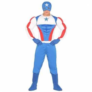 Voordelig superhelden verkleedkostuum amerika voor volwassenen
