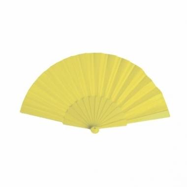 Voordelige waaier geel 23 cm