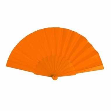 Voordelige waaier oranje 23 cm
