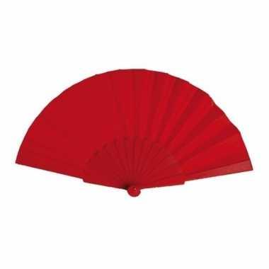 Voordelige waaier rood 23 cm